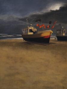 """Magdalena Tuźnik, """"Sopot. Łodzie rybackie na plaży"""""""