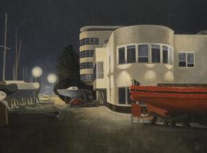 """Magdalena Tuźnik, """"Gdynia. Wydział Nawigacyjny nocą"""""""